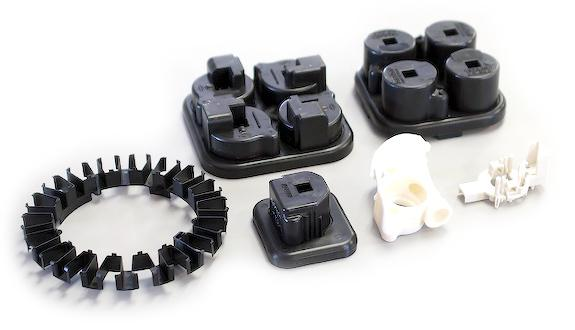 Assorted electrical-related molded parts